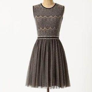 Anthro Weston Wear Dulcie Wool Lace Tulle Dress Sm